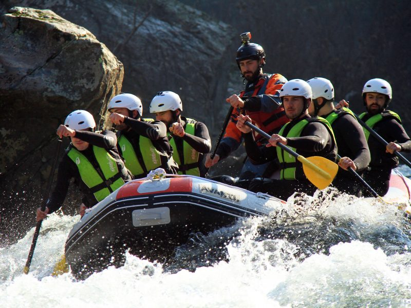 White Water Rafting on the Paiva River with the company Just Come Adventure Tours. Arouca, Portugal.